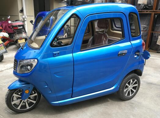 blue color mini electric scooter trike from China universe