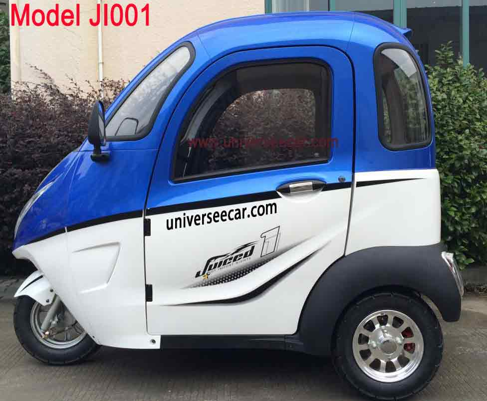 3 wheels enclosed electric motor tricycle for Sweden