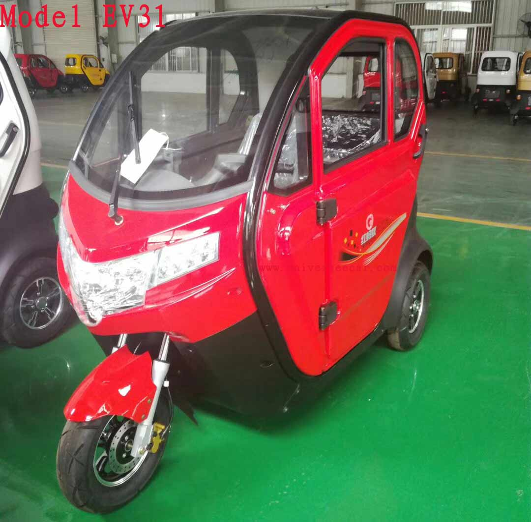 new Type electric closed trike for passenger
